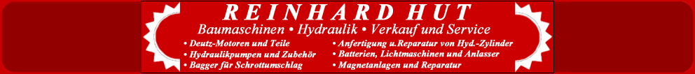 Baumaschinen Hut